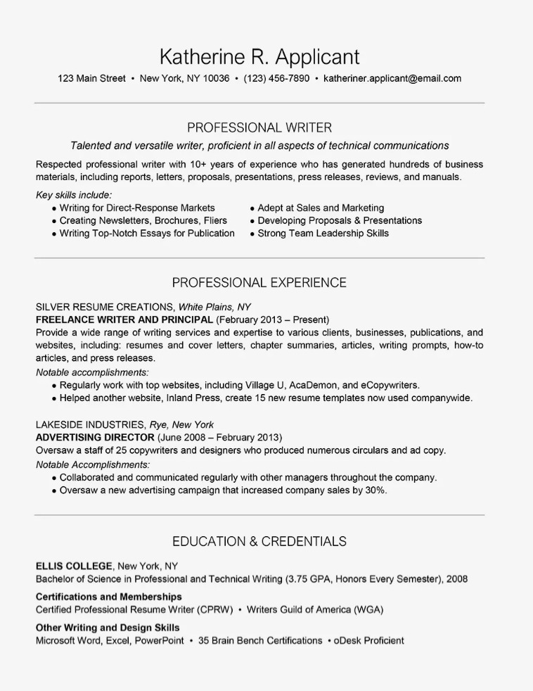 Resume Samples For Freelancers In The Philippines