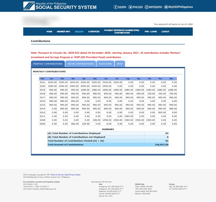 how to check sss contribution online 6