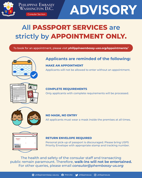philippine embassy appointment for passport renewal washington dc