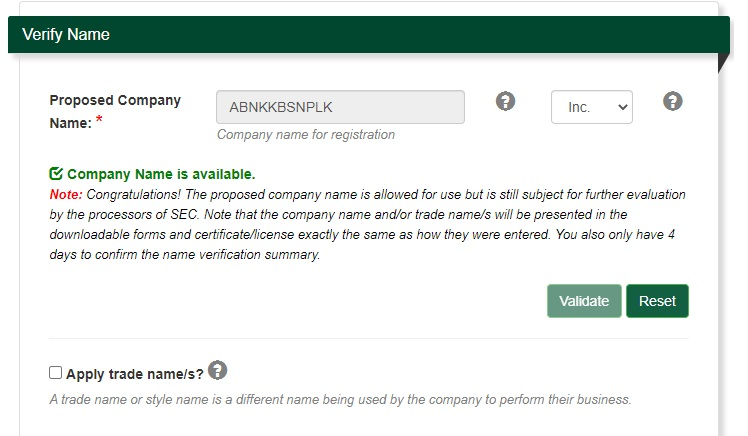 sec registration for domestic stock corporation 7