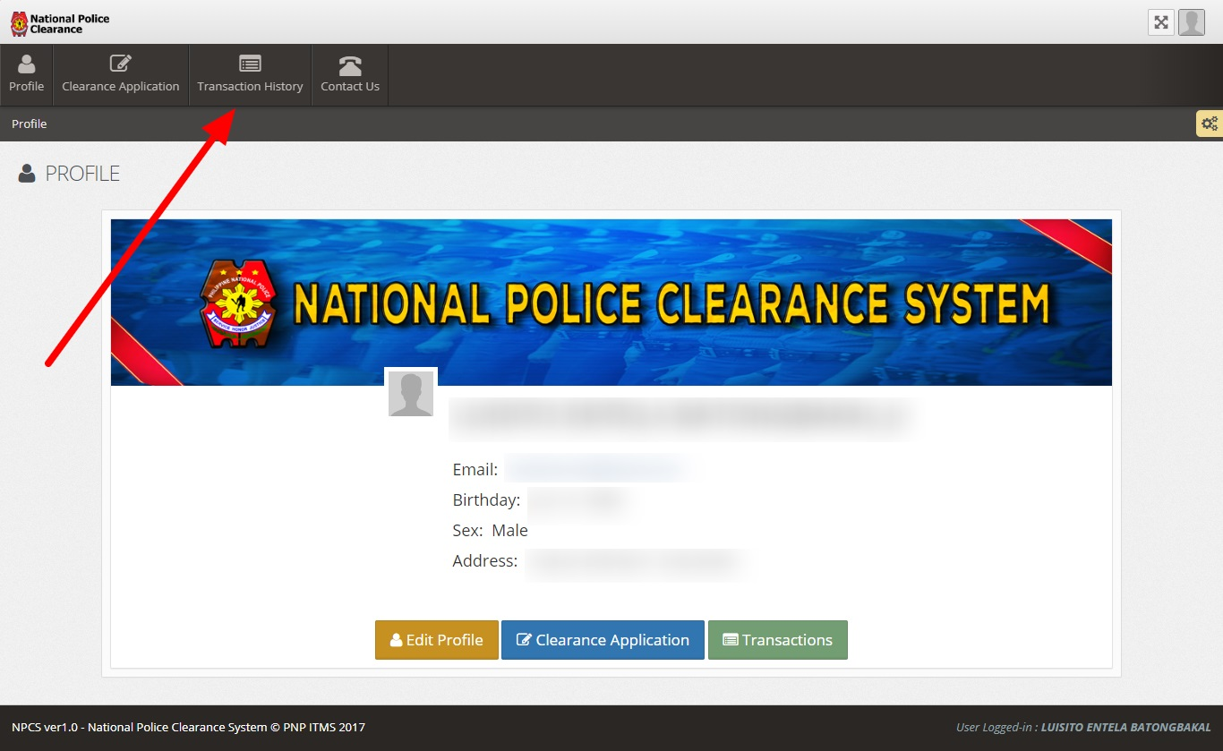 how to pay police clearance via 711 2