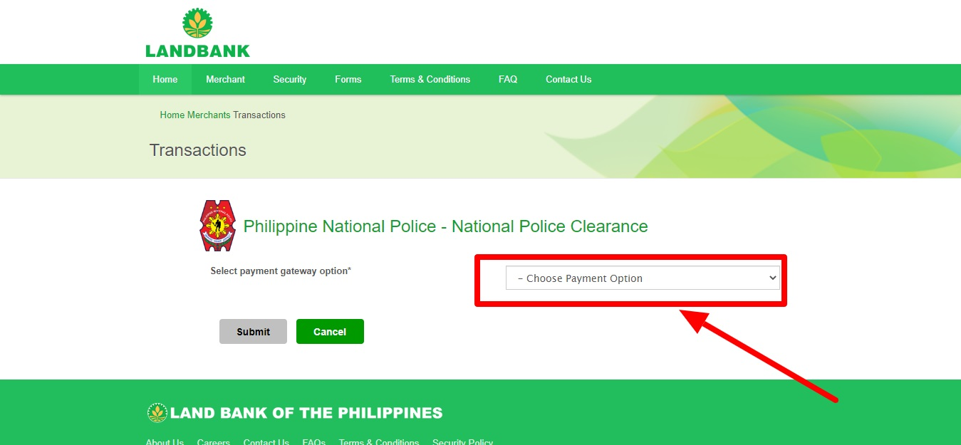 how to pay police clearance via 711 4