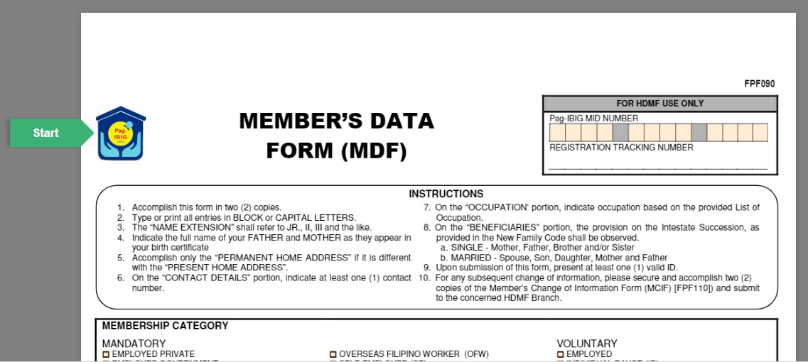 how to find my unprint mdf form of pag ibig