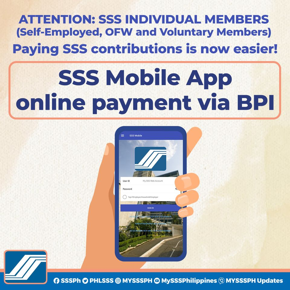 how to pay sss contribution on sss mobile app