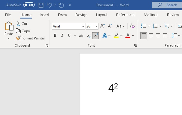 how to type the squared symbol in microsoft word