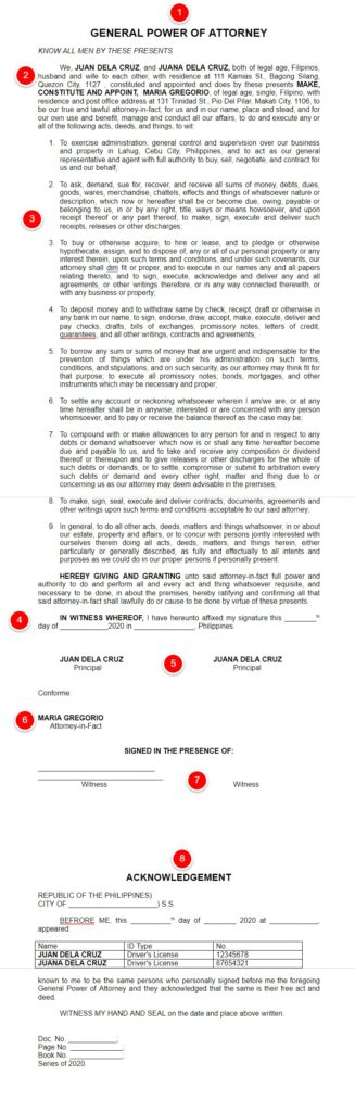 general power of attorney sample philippines