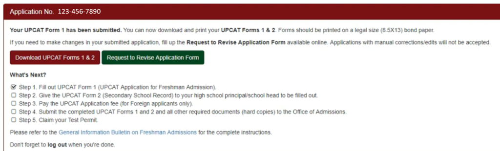 how to apply upcat 5