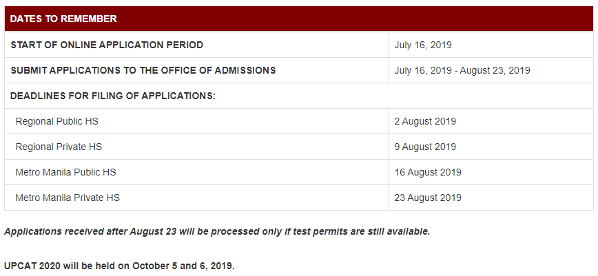 how to apply upcat 8