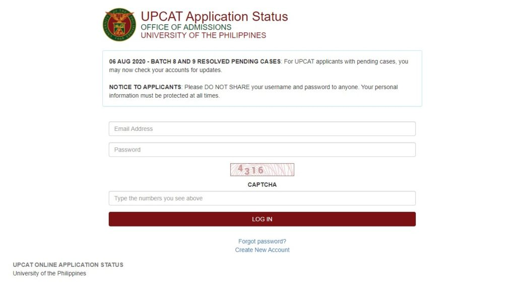 how to check upcat results 1