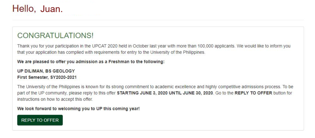 how to check upcat results 2