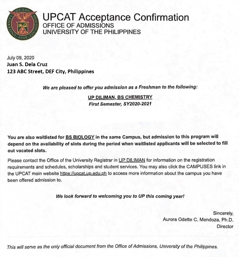 how to check upcat results 3