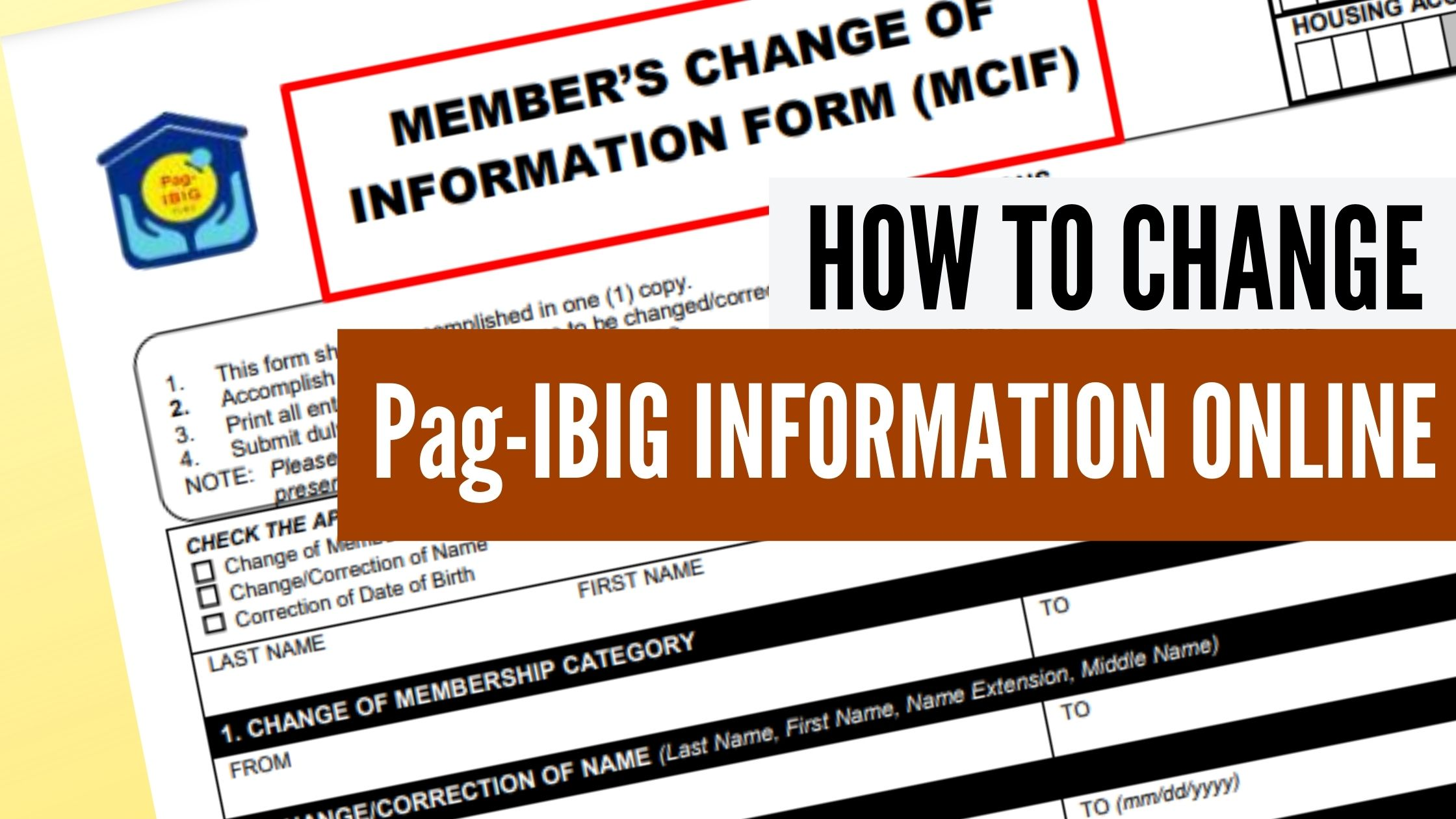 pag ibig update information