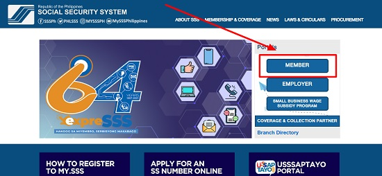 how can i recover my sss user id and password