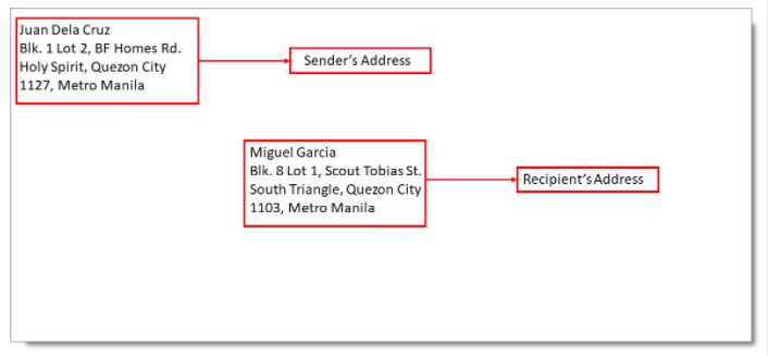 how to write address with zip code philippines