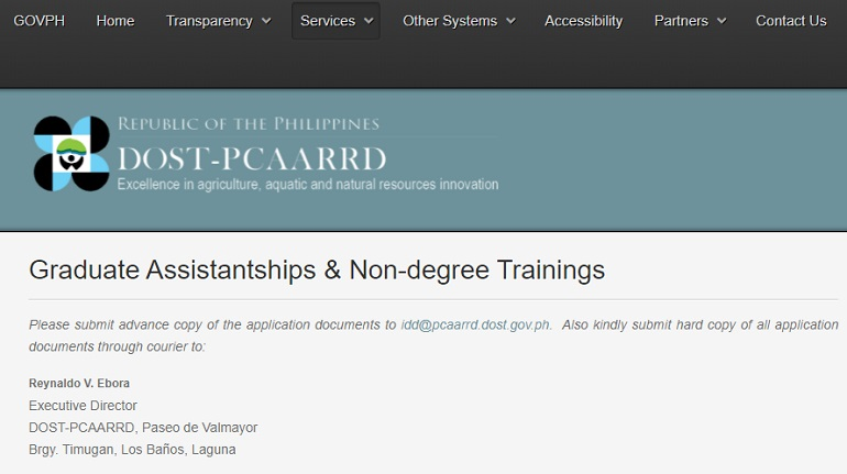 department of agriculture scholarship program philippines 2
