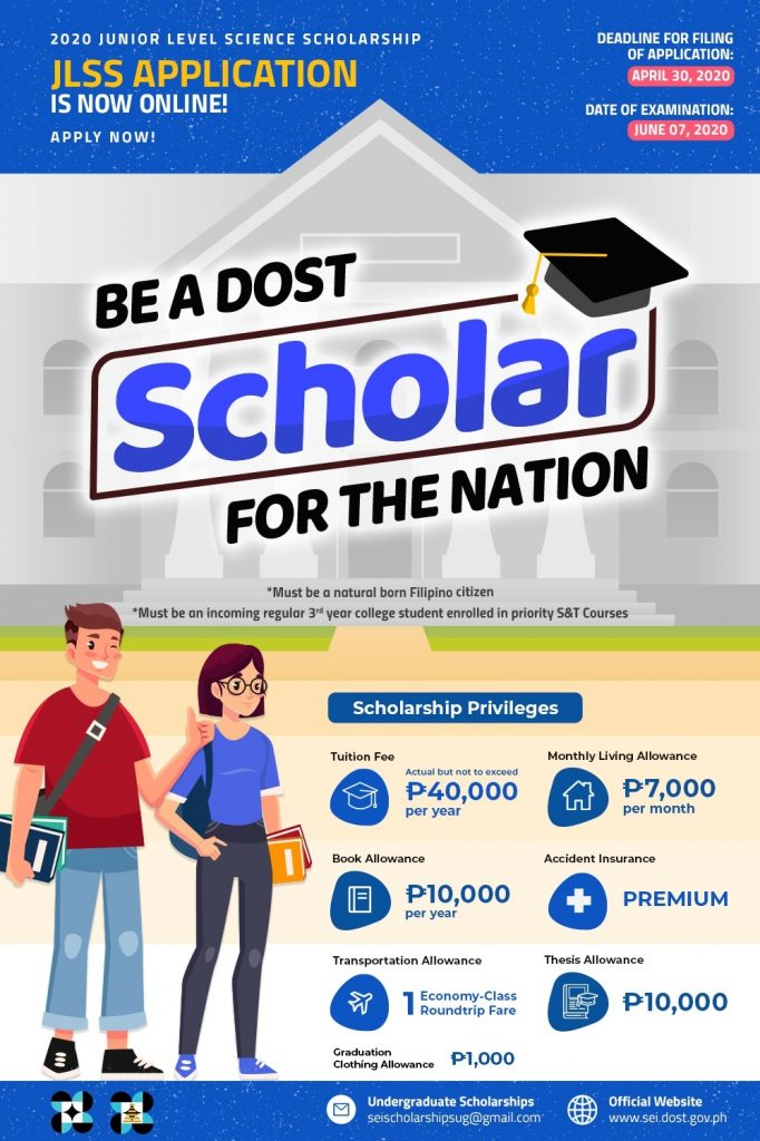 how to apply for dost scholarship 3