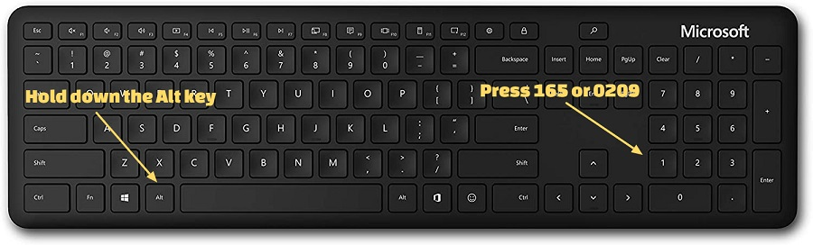 how to type capital enye on a windows computer with a numpad