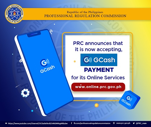 how to pay prc renewal gcash