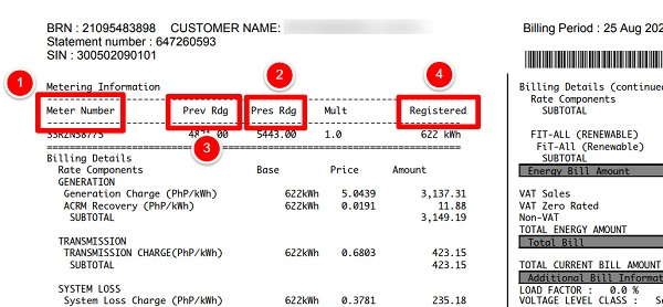 how to compute meralco bill 1