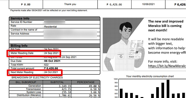 how to compute meralco bill 8